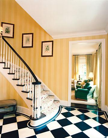 foyer design ideas. fascination with stripes in