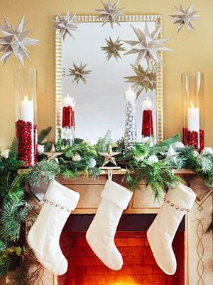 Fireplace Mantel Holiday Decor