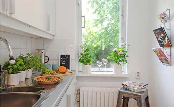 Studio with galley kitchen how to decorate afreakatheart Decorating ideas for small apartment kitchens