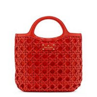 kate spade: red orange handbags