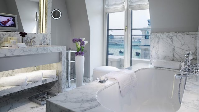 Sophisticated White Marble Bathrooms