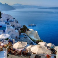 romance with the island of santorini, greece