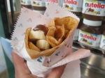Crepe with Nutella and bananas near Saint-Germain des press