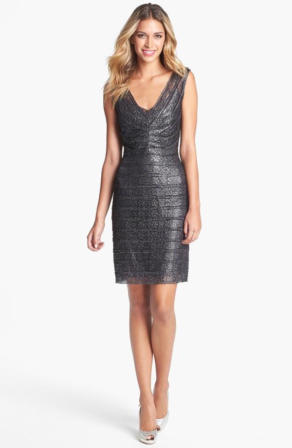 metallic lace sheath dress 188