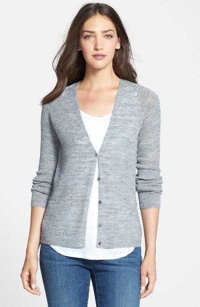 slubaalpaca and wool blend v-neck cardigan 228 Eileen Fisher