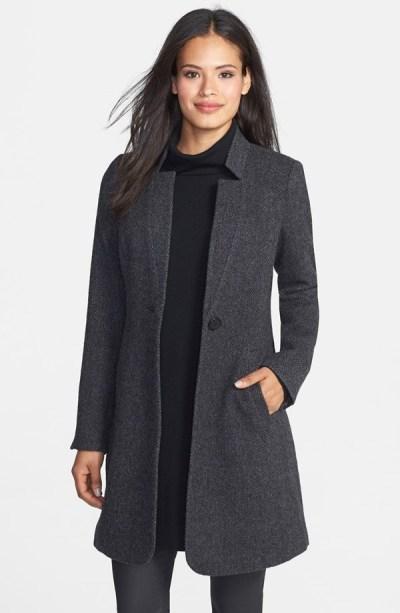 Notch Collar Alpaca Tweed Jacket Eileen Fisher 578