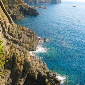 Coast of Italy connecting Cinque Terre 2014
