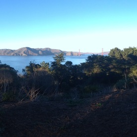 Walking the trail in San Francisco's lands end