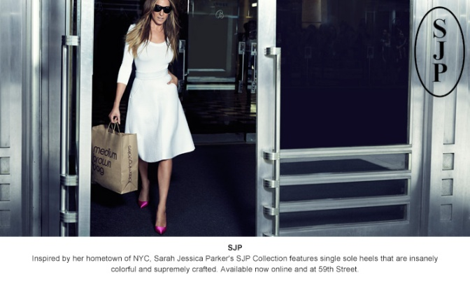 fashion: sarah jessica parker shoes at bloomingdale's