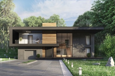charcoal-and-wood-home-design-exterior
