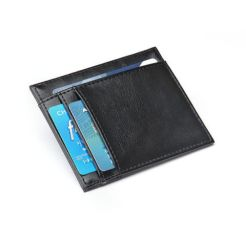 RFID blocking leather card holder