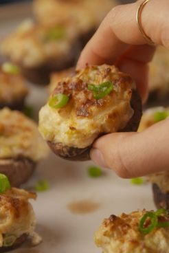 crab filled mushrooms
