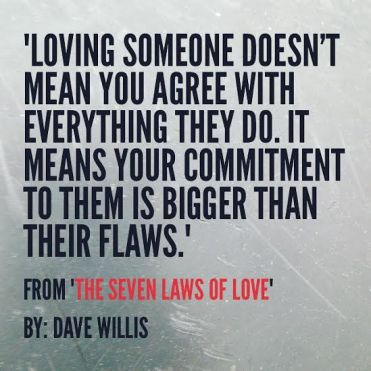 7-laws-of-love-book-quote-Dave-Willis-loving-someone-doesnt-mean-you-agree-with-everything-they-do-means-your-commitment-is-bigger-than-their-flaws