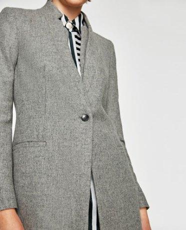 Sensibly get that: Zara Wool Frock Coat USD119.00