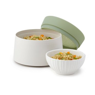 microwave rice cooker for the kid away in college or someone who enjoys small space living