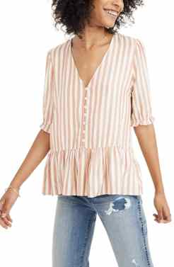 Liking this subtly striped top