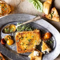 Food: Feta Pan Fried and Honey Drizzle
