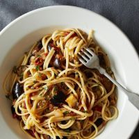 Food: Dinner Tonight- Spicy Eggplant Pasta